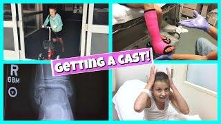 GABRIELLE'S BROKEN LEG   GETTING A CAST!