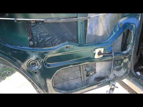 Как снять стекло задней двери Ваз 2104