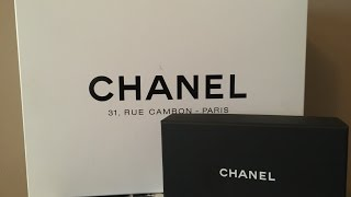 getlinkyoutube.com-Chanel Jumbo Double Classic Flap Unboxing and Chanel Card Case