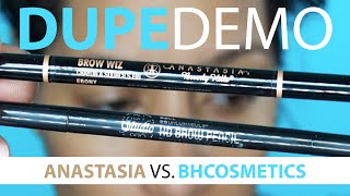 Anastasia Beverly Hills BROW WIZ Dupe - Bhcosmetics Studio Pro Brow Pencil FULL DEMO