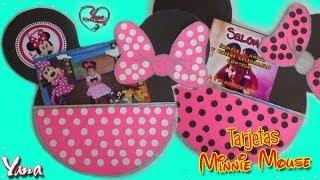 getlinkyoutube.com-Tarjetas de Invitación Fiesta de Minnie Mouse 1 año - Yanacol