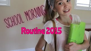 School Morning Routine 2015