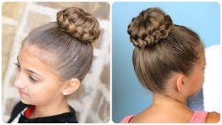 Lace Braided {Sophia Lucia} Bun | Updo Hairstyles width=