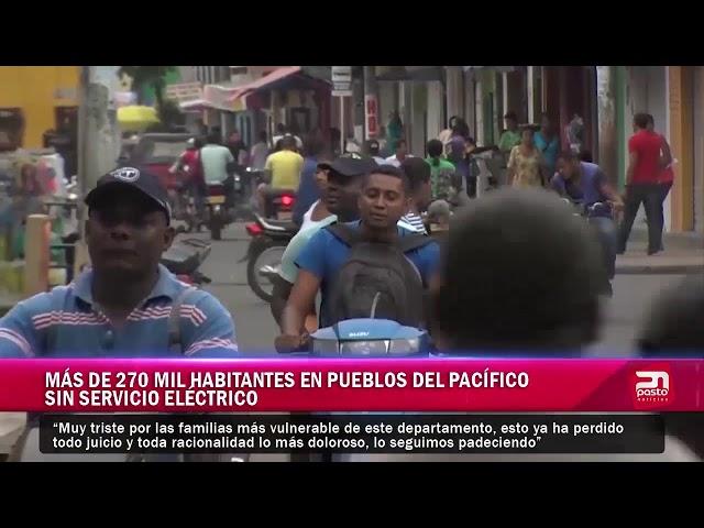 Más de 270 mil habitantes en pueblos del Pacifico sin servicio eléctrico