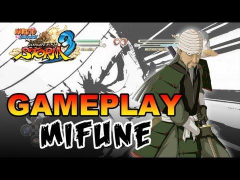 Naruto Shippuden Ultimate Ninja Storm 3 - X360 / PS3 - Mifune Gameplay (Gamescom 2012)
