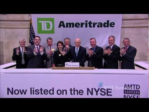 TD Ameritrade celebrates transfer to NYSE from NASDAQ and rings the NYSE Opening Bell
