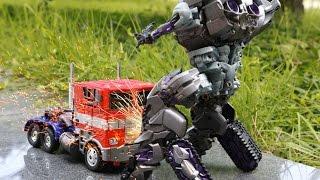 getlinkyoutube.com-Transformers Optimus Prime VS Megatron Combat Stop Motion Car Toys 트랜스포머 장난감 옵티머스프라임 VS 메가트론 전투 동영상