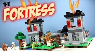 getlinkyoutube.com-LEGO Minecraft The Fortress Fall 2016 Set 21127 Adventure Build