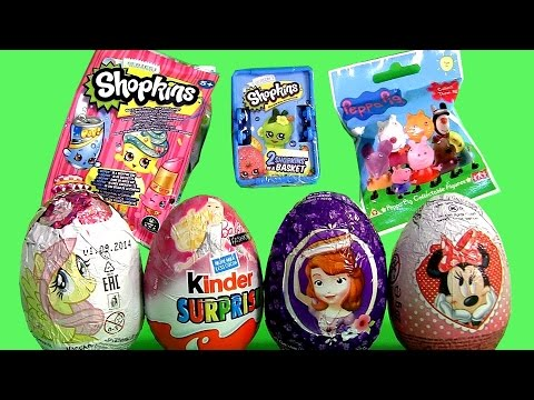 NEW Shopkins Mystery Bag, Barbie Kinder Huevos Sorpresa, Peppa Pig Surprise Bag, My Little Pony 2015