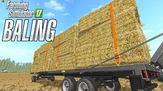 getlinkyoutube.com-Straw Baling in  Goldcrest Valley