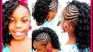 getlinkyoutube.com-CROCHET BRAIDS: Side Mohawk! (Slow motion)