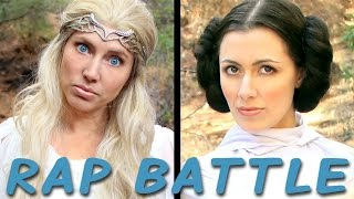 getlinkyoutube.com-GALADRIEL vs LEIA: Princess Rap Battle (Whitney Avalon ft. Sara Erikson) *explicit*