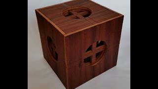 getlinkyoutube.com-Insanely complicated wooden puzzle box 65 moves