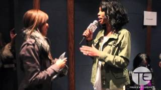 Brandy Interviews Lauren London At The Game Screening