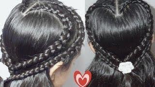 getlinkyoutube.com-Trenza Doble Corazon Para San Valentin    Double Hearth Braid  CositasyManualidades