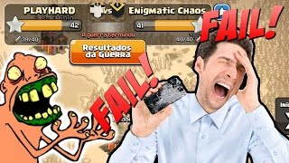 A GUERRA MAIS ENGRAÇADA DO CLASH OF CLANS! CHUVA DE FAILS!