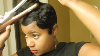 getlinkyoutube.com-Short Relaxed Hair Tutorial: How I style my Short Cut