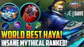 THEY NERF-ED HAYA because of THIS PLAYER! MOBILE LEGENDS HAYABUSA RANKED GAMEPLAY