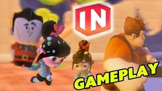 getlinkyoutube.com-Disney Infinity: ♥ Vanelope Von Schweets loves Gaston ♥ Gameplay - Happy ThanksGiving!