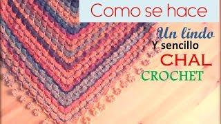 getlinkyoutube.com-Como se hace un sencillo chal a crochet (diestro)
