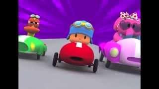 getlinkyoutube.com-Pocoyo The Big Race Cars-La Gran Carrera