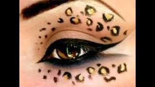 getlinkyoutube.com-Leopard Print - Make Up Tutorial (Halloween)