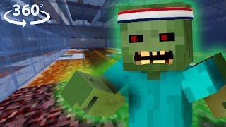 ZOMBIE OLYMPICS in 360° Virtual Reality - Minecraft