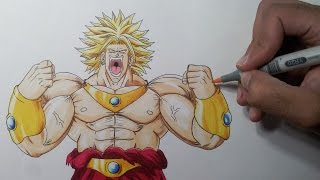getlinkyoutube.com-Drawing Broly the Legendary Super Saiyan