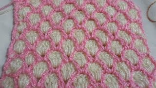 getlinkyoutube.com-Fácil puntada tejido en gancho para cobijas, bufandas, etc  (Muestra # 3)