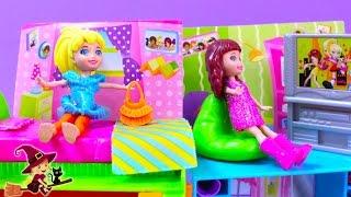 getlinkyoutube.com-La Casa de Polly Pocket Armario de Purpurina Mágico