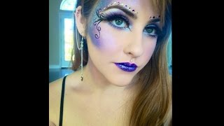 getlinkyoutube.com-Purple fairy makeup tutorial