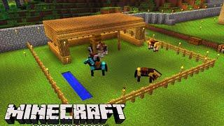 getlinkyoutube.com-Minecraft: O NOVO ''ESTABULO'' dos CAVALOS! - Sobrevivendo com Lipão #95