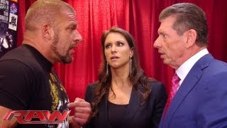 getlinkyoutube.com-Raw - Triple H can't convince Stephanie and Mr. McMahon to let him compete: Raw, June 3, 2013