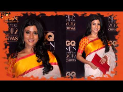 Konkona Sen in Bengali Saree at GQ men awards 2012