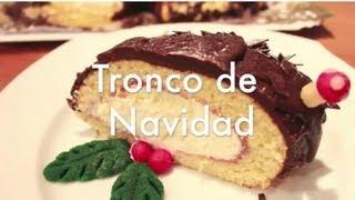 getlinkyoutube.com-Tronco de Navidad de Chocolate - Recetas de Postres