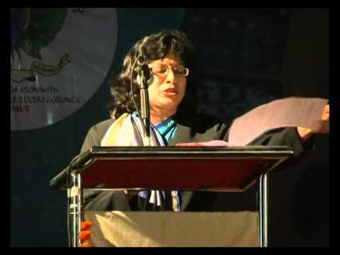 Principal Anuradha Pant ma'am's annual report Speech First Annual Day 2012 - Mayoor School, Raipur