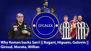 WHY ROMAN BACKS SARRI | RUGANI, HIGUAIN, GOLOVIN, GIROUD, MORATA, WILLIAN | Chelsea Transfer Special width=