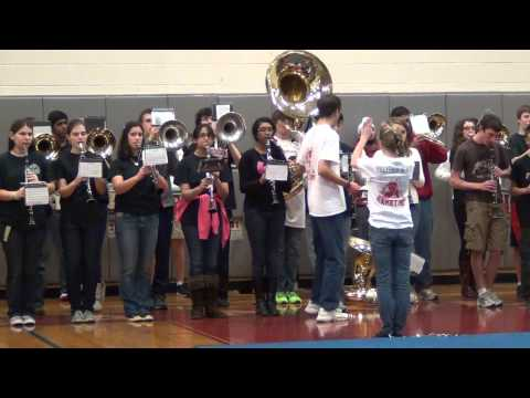 Westborough High School Marching Band 2013 Pep Rally Seven Nation Army