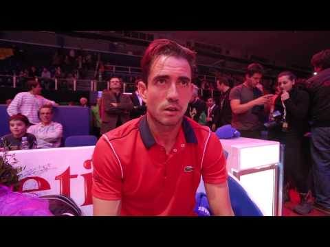 Guillermo Garcia-Lopez wins the 2015 PBZ Zagreb Indoors - Interview