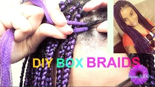 getlinkyoutube.com-★ ☆DIY Box Braids (Slow motion): Two strand twist method★ ☆