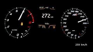 getlinkyoutube.com-Seat Leon Cupra 280 2014 - acceleration 0-260 km/h, top speed test and more