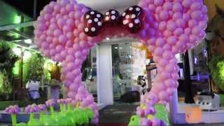 getlinkyoutube.com-Arco da Minnie de Balões