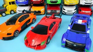 getlinkyoutube.com-CarBot Cars 헬로카봇 삼총사 나이트 루크 폰 Hello CarBot transformers car toys