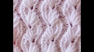getlinkyoutube.com-Knit Pattern * ALMOND FLOWER *