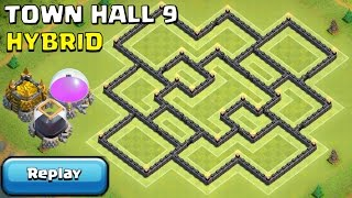 getlinkyoutube.com-TH9 Hybrid Base with REPLAYS PROOF [Town Hall 9 Defence] - Clash of Clans