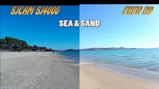 getlinkyoutube.com-sj4000 vs Eken H9 side by side: sea, sand and forest