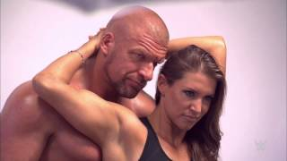 "getlinkyoutube.com-Triple H and Stephanie McMahon are on the cover of ""Muscle & Fitness"" magazine, available now!"