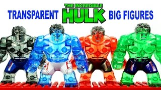 getlinkyoutube.com-LEGO The Incredible Hulk Transparent KnockOff Big Figures Review