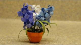 getlinkyoutube.com-Quilled Miniature Plants:Hyacinths