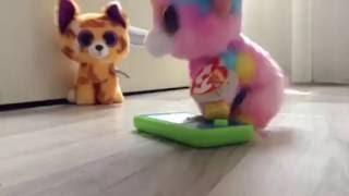 getlinkyoutube.com-Beanie Boos Play Pokemon Go!